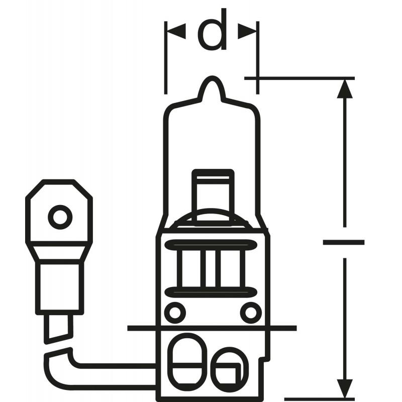 OSRAM ORIGINAL LINE 12V H3 64151 01B