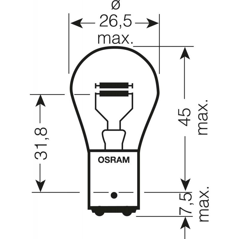 OSRAM ORIGINAL LINE 12V P21 5W 7528 02B 4050300925523