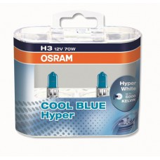 OSRAM COOL BLUE HYPER (H3, 62151CBH-DUOBOX)